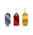 Isolated set of hanging tags design vector image