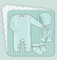 knitted collection for a newborn baby mint vector image