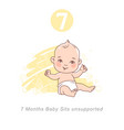 little ba4 month bagrowth and vector image vector image