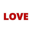 love on white background vector image