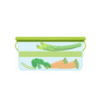 lunch box with vegetables healthy food for kids vector image vector image