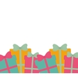 many gift boxes with bow seamless vector image vector image