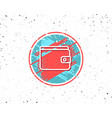 money wallet line icon cash symbol vector image vector image