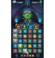 Monster battle GUI freak with brain vector image vector image