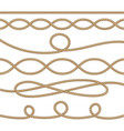 nautical ropes decoration element set vector image
