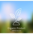 Organic product badge vector image vector image