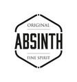 original absinth spirit sign vintage stamp vector image