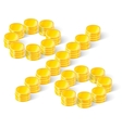 percent sign from coins vector image