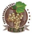 picture of a bunch of grapes vector image
