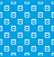 pizza box cover pattern seamless blue vector image vector image