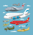 plane aircraft or airplane and jet flight vector image vector image