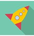 Retro rocket icon flat style vector image vector image