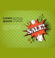 sale web banner pop art comic discount poster vector image