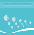 sea life background with lovely cartoon fishes vector image