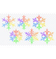 set christmas lgbt snowflakes vector image