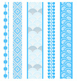 Set of abstract pattern stripes vector image vector image