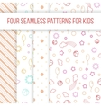 Set of seamless patterns for little girl vector image