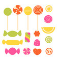 set of sweet candy vector image