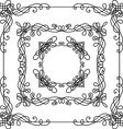 Set of vintage ornate frames vector image vector image
