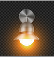shining modern sconce element for house vector image