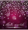 silver shining falling stars on purple ambient vector image vector image