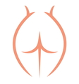 Sketch of woman naked body vector image