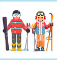 ski recreation skier mountain winter mountains vector image