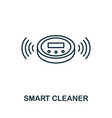 smart cleaner outline icon creative design from vector image vector image
