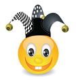 smile in jester hat vector image