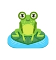 Smiling Cartoon Frog Character vector image