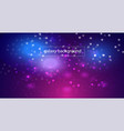 space galaxy background with cosmic light and vector image vector image