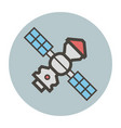 space station with solar panels vector image vector image