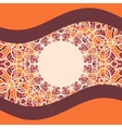 Stylized Oriental Print with bended lines and vector image vector image