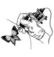 tattoo machine engraving vector image