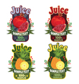 templates for labels of juice garnet and pineapple vector image