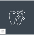 tooth clean line icon vector image