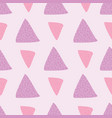 triangles in stripes seamless with pink vector image vector image