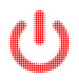 turn off halftone dotted icon vector image