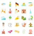 unbridled joy icons set cartoon style vector image vector image
