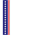 us flag ribbon decoration frame vector image