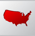 us map cut from paper vector image
