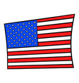 usa flag icon cartoon vector image vector image
