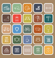 village line flat icons on brown background vector image vector image