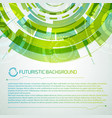 virtual interface futuristic concept vector image vector image
