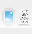 window view from airplane flight realistic window vector image