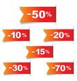 Color Discount Labels vector image