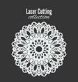 laser flower cut the template frame floral vector image