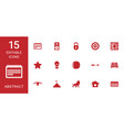 15 abstract icons vector image vector image