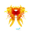 Abstract colorful splash reminding creature vector image