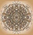 abstract mandala ornament asian pattern golden vector image vector image